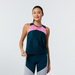 Cropped Fitness Tank Top - Color Block