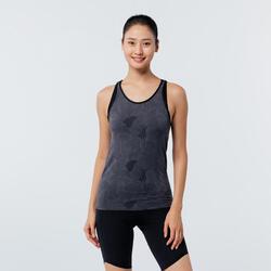 Women's Seamless Dynamic Yoga Tank Top - Black/Grey