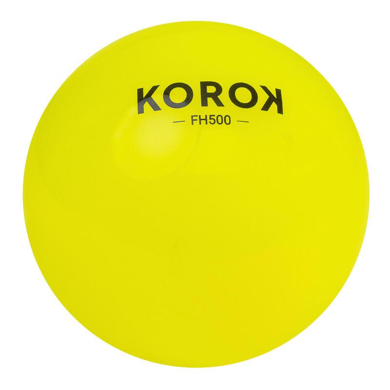Balle de hockey sur gazon lisse FH500 jaune