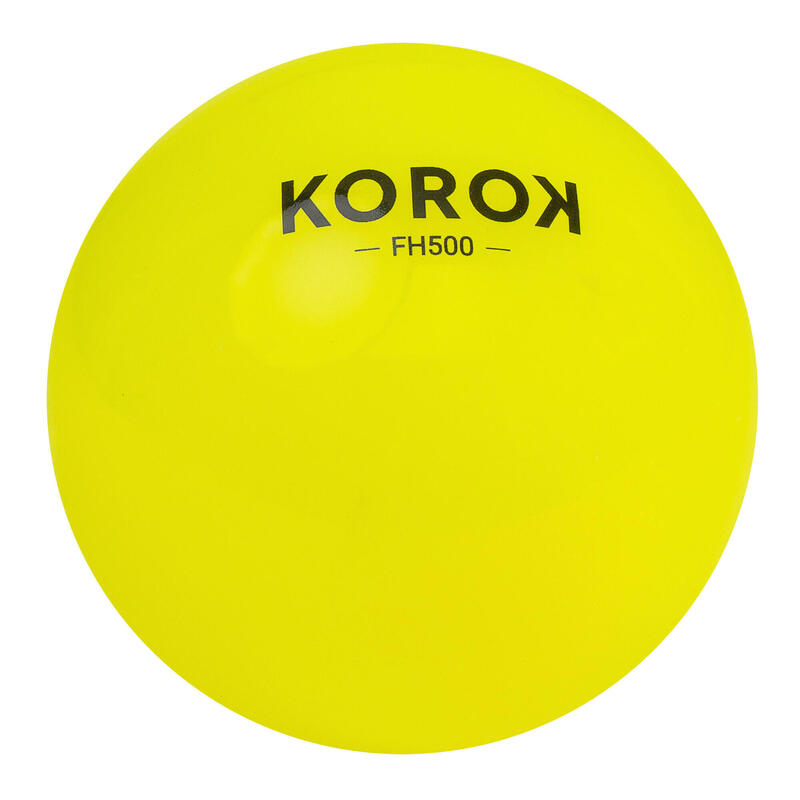 Gladde hockeybal FH500 geel