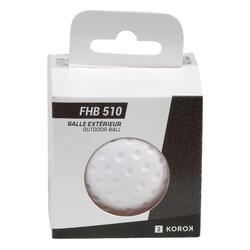Balle de hockey sur gazon alvéolée FH510 blanc