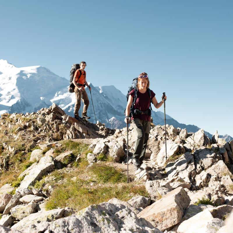 Using your trekking pole's external blocker