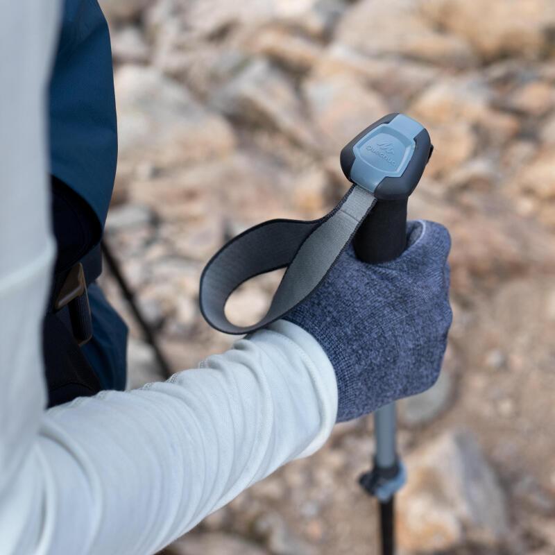 Adjusting the pole strap