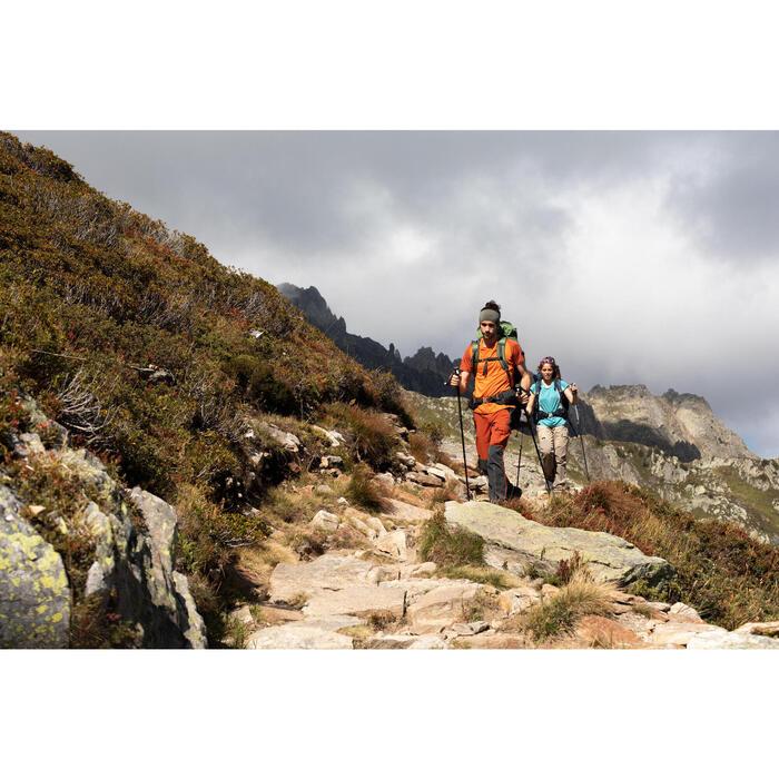 快調式登山健行杖MH500-綠色