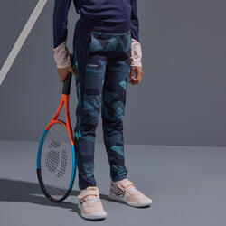 女孩款發熱緊身褲TH500 - 海軍藍配粉紅色
