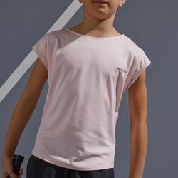 Tennis Shirt 500 Mädchen rosa