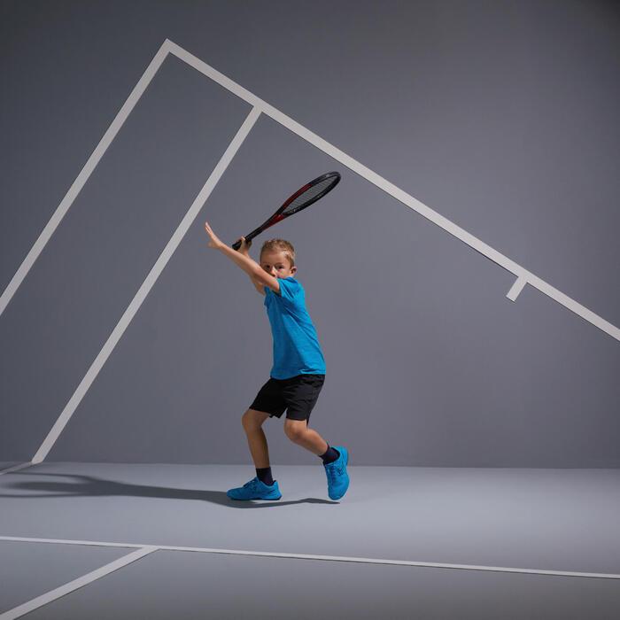 Tennis-Shirt 900 Kinder blau