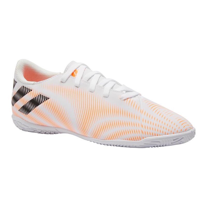Chaussures de Futsal NEMEZIZ enfant blanc orange EURO 2021