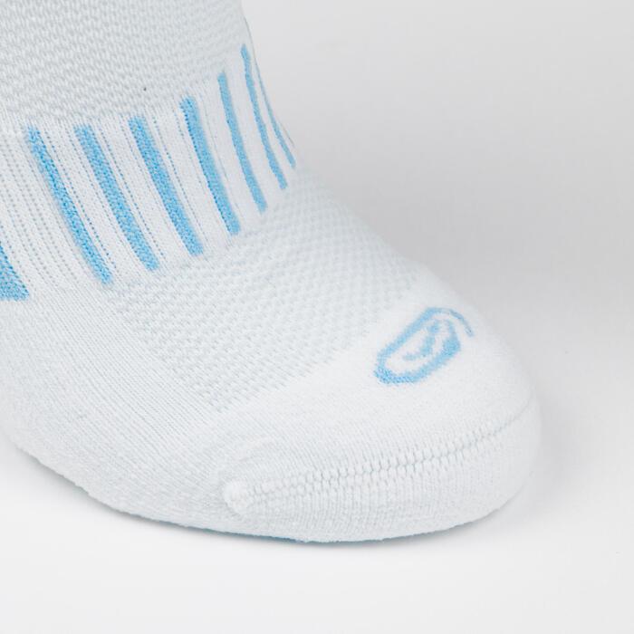 LotX2 de chaussettes AT 500 mid enfant unies bleues et rayées bleues