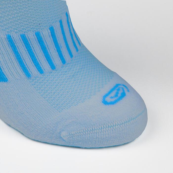 Sportsocken AT 500 Comfort 2 Paar Mid Kinder blau/blaue Streifen