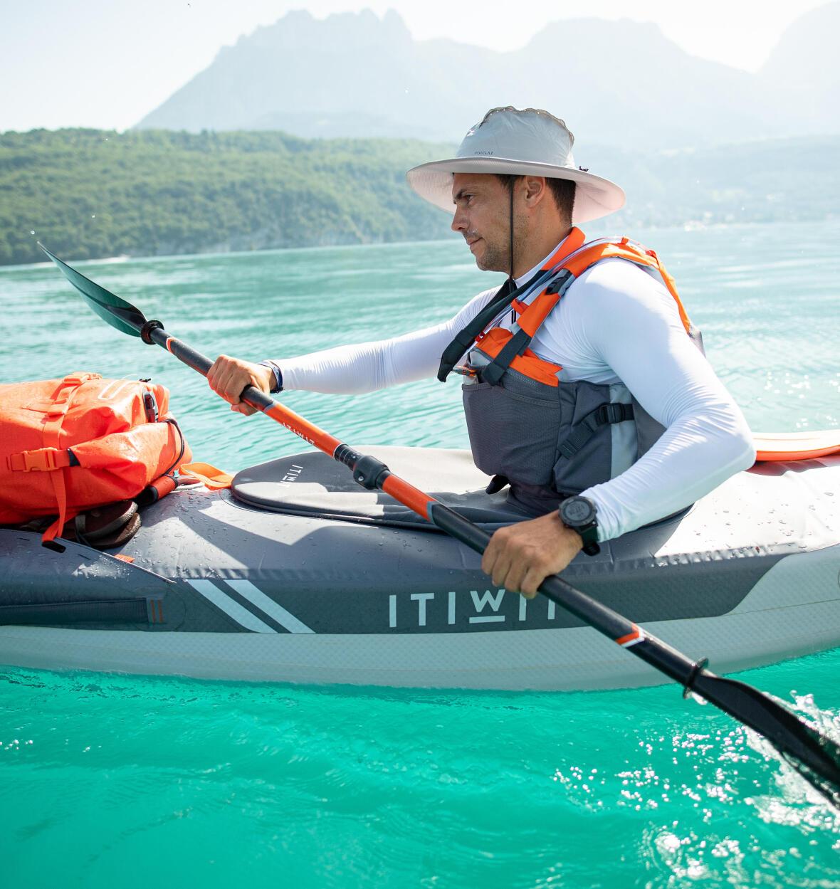 reglage angle pagaie kayak x500