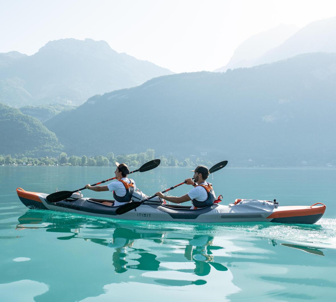 pagayer kayak corps position