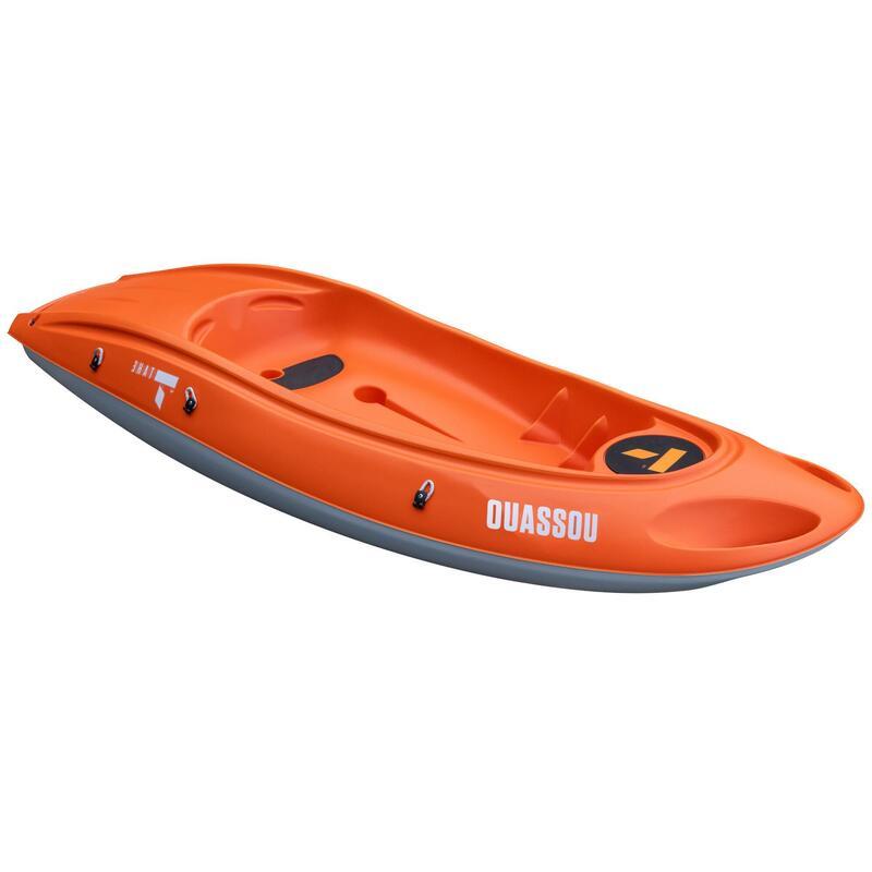 Kayak Canoa Rígido Travesía Tahe Ouassou Naranja 1 Plaza