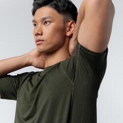 100% Mesh Technical Fitness T-Shirt - Khaki