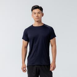 機能健身T恤 - 素面軍藍色