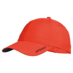網球帽TC 500(54 cm)-紅色配軍藍色