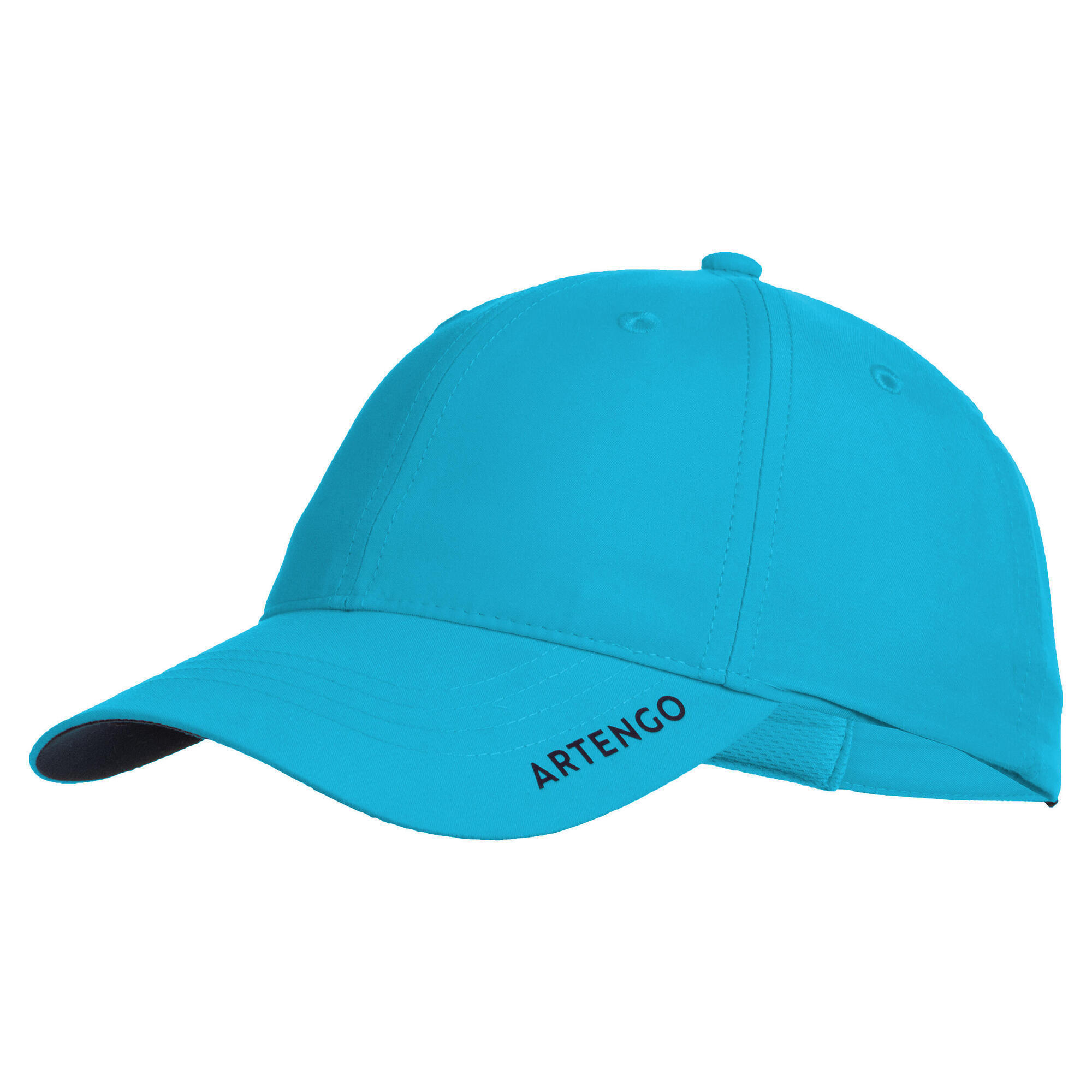 Schirmmütze Tennis-Cap TC 500 Gr. 54 türkis/blau