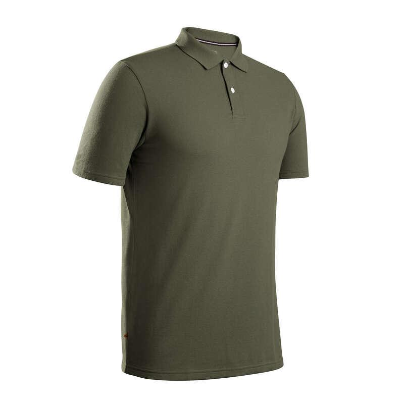 FÉRFI GOLFRUHÁZAT ENYHE ID#RE Golf - Férfi golfpóló MW500, khaki INESIS - Golfruházat, Golf cipő, Golf kesztyű