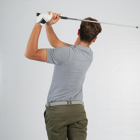 Men's Golf Short Sleeve Polo Shirt -  Grey