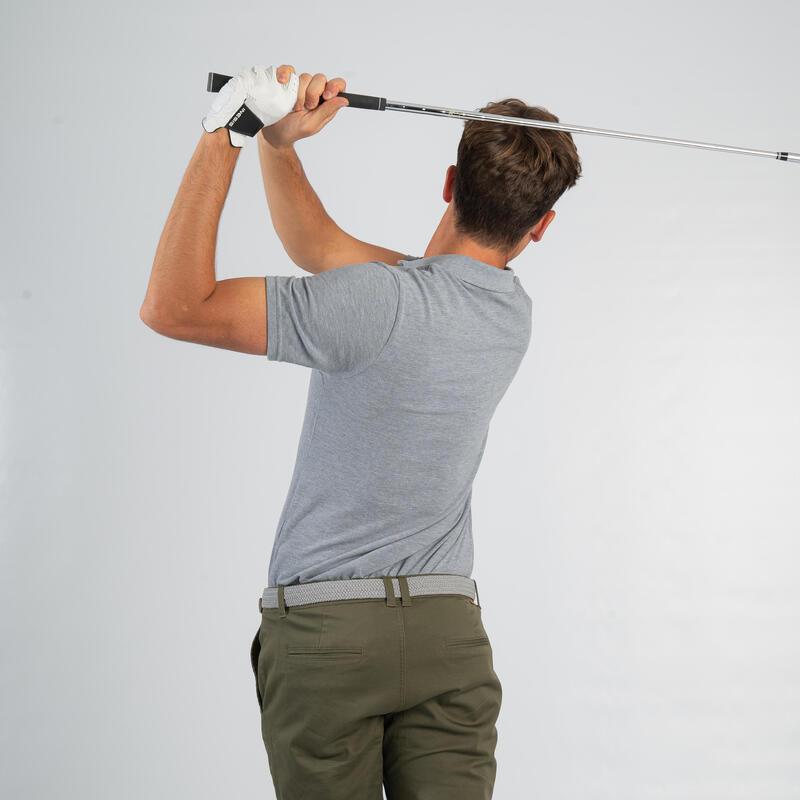 Men's golf short-sleeved polo shirt MW500 mottled grey