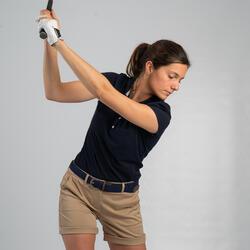 Polo de golf manches courtes femme MW500 Bleu marine