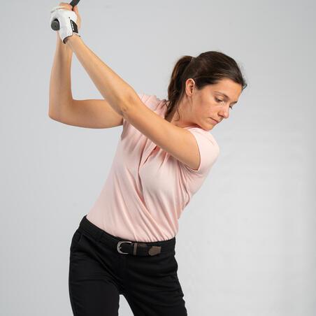 Kaos Polo Golf Wanita - Pink Muda