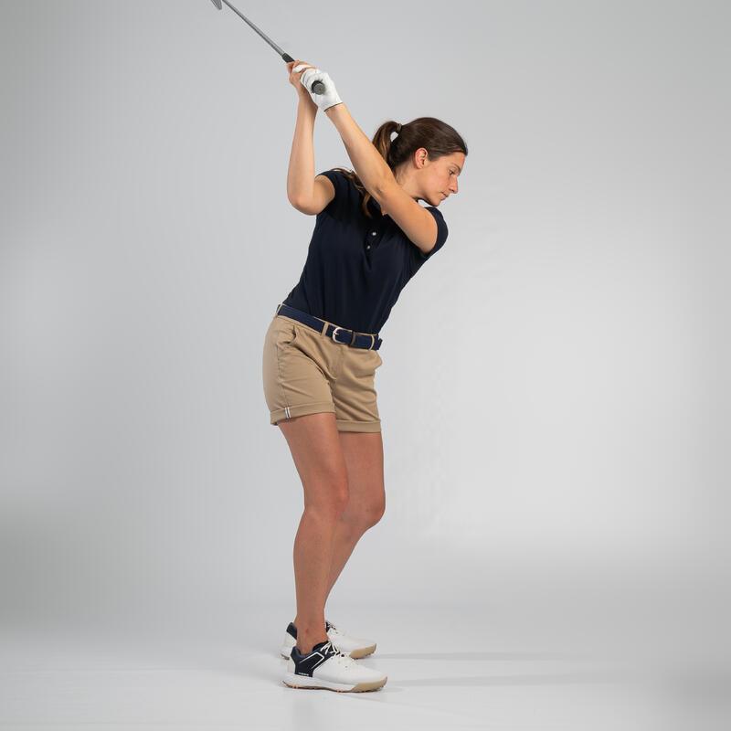 เสื้อโปโลผู้หญิงสำหรับใส่เล่นกอล์ฟ (สีกรมท่า)
