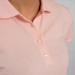 Polo de golf manches courtes femme MW500 rose pale