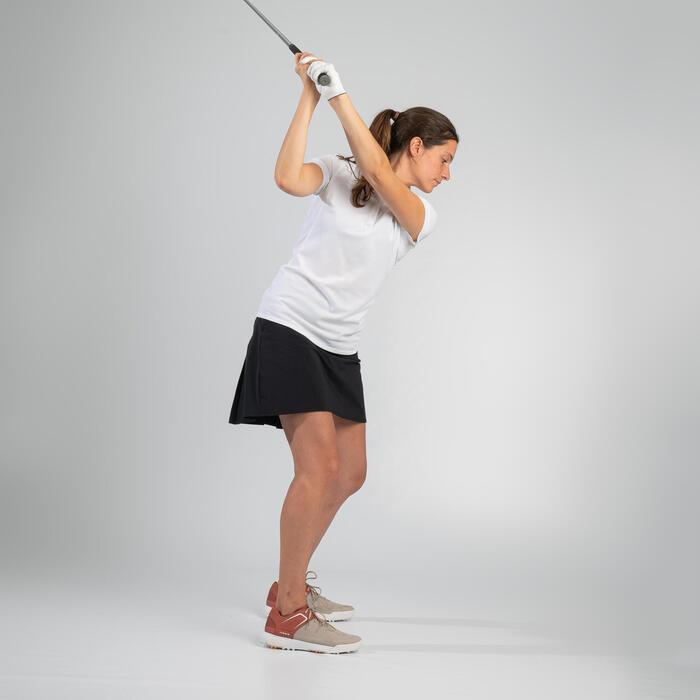 Saia-calção de Golf WW500 Mulher Preto