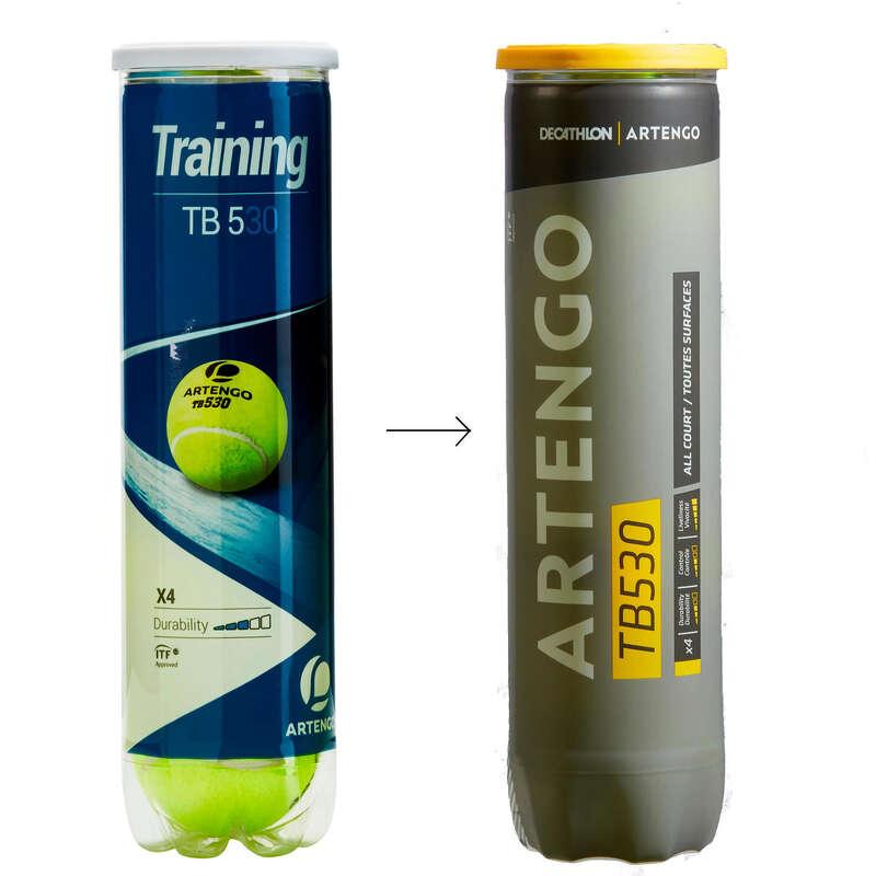 Tennisbälle Tennis - Tennisbälle TB530 4er-Dose ARTENGO - Tennis Ausrüstung