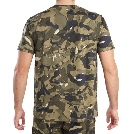 SS hunting T-shirt 100 WL V1 - green camouflage