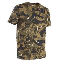 T-shirt de Caça 100 Camuflagem WL V1 Verde