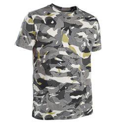 T-shirt de caça manga curta 100 V1 Camuflado Cinzento