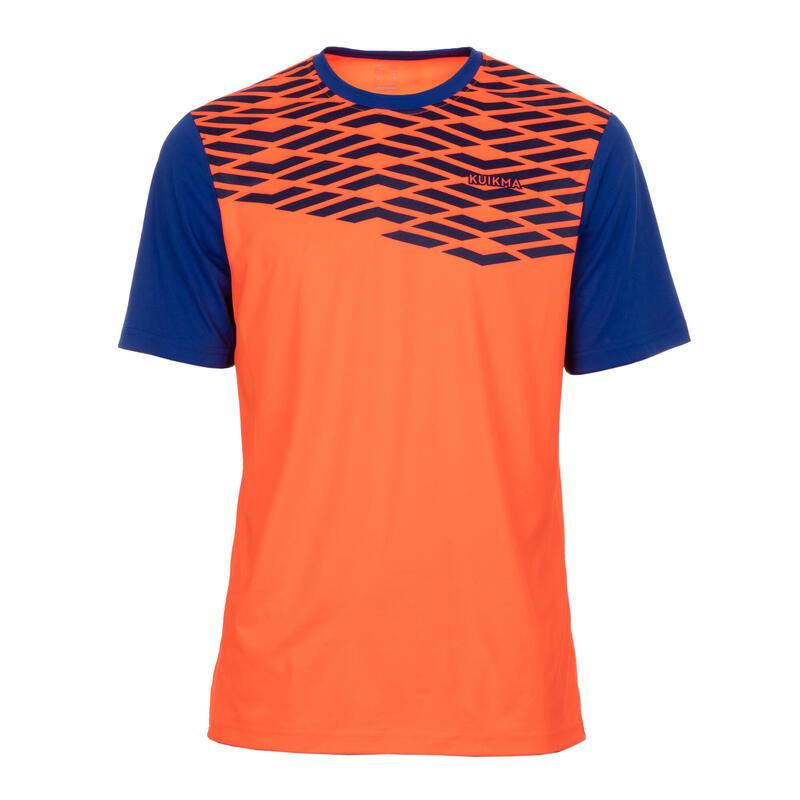 Padel T-shirt voor heren PTS 500 oranje/blauw