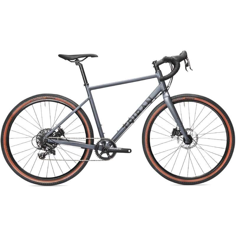 ORSZÁGÚTI KERÉKPÁROK TÚRAKERÉKPÁROZÁSHOZ Kerékpározás - GRAVEL KERÉKPÁR GRVL 520 1X11 TRIBAN - Kerékpár