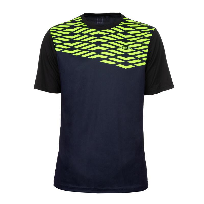Padel T-shirt voor heren PTS 500 zwart/geel