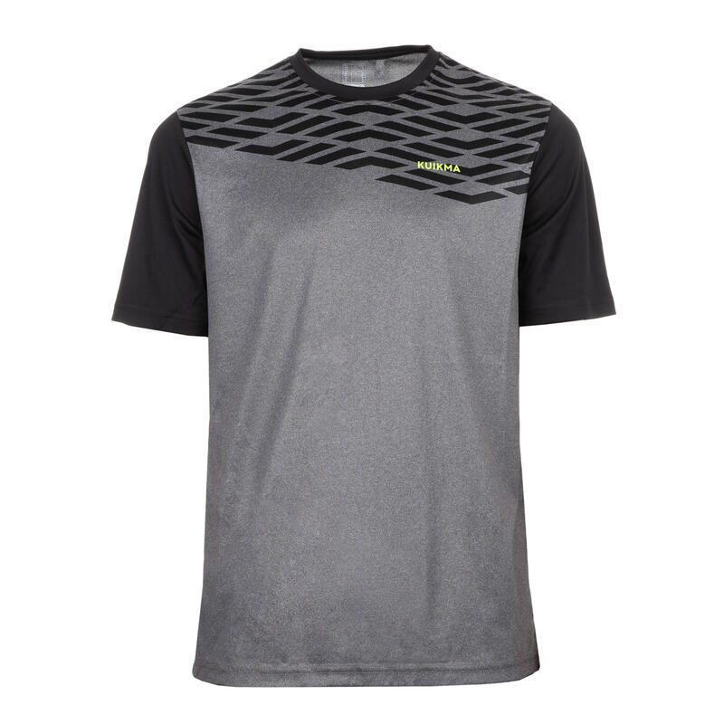 Camiseta de pádel Hombre PTS 500 Gris Negro