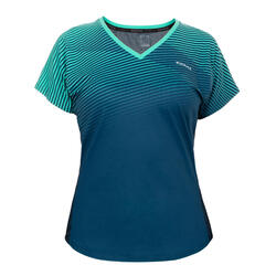 Women's Padel T-Shirt PTS 500 - Blue/Green