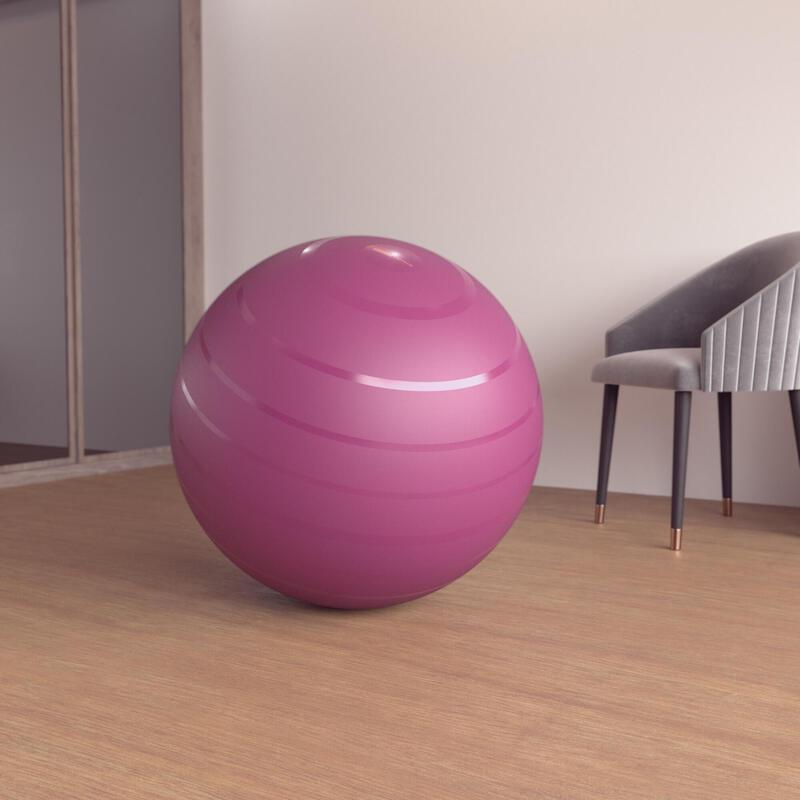 Stevige gymbal voor fitness 75 cm maat 3 bordeaux