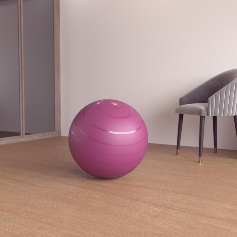Durable Fitness Gym Ball Size 1 - 55 cm - Burgundy
