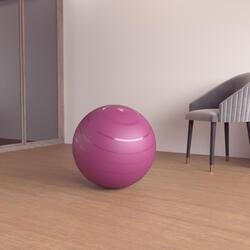 1號耐用健身抗力球 - 55 cm - 酒紅色