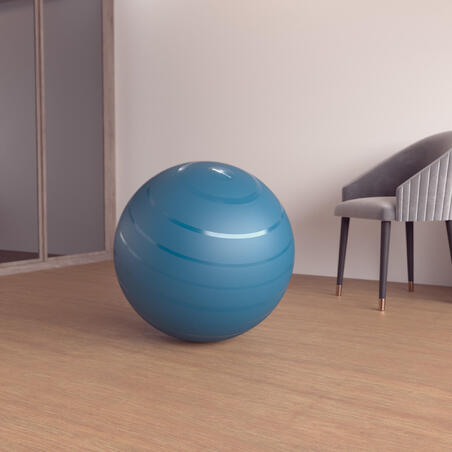 Durable Fitness Gym Ball Size 2 - 65 cm - Turquoise