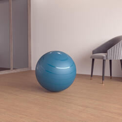 Durable Fitness Gym Ball Size 1 - 55 cm - Turquoise