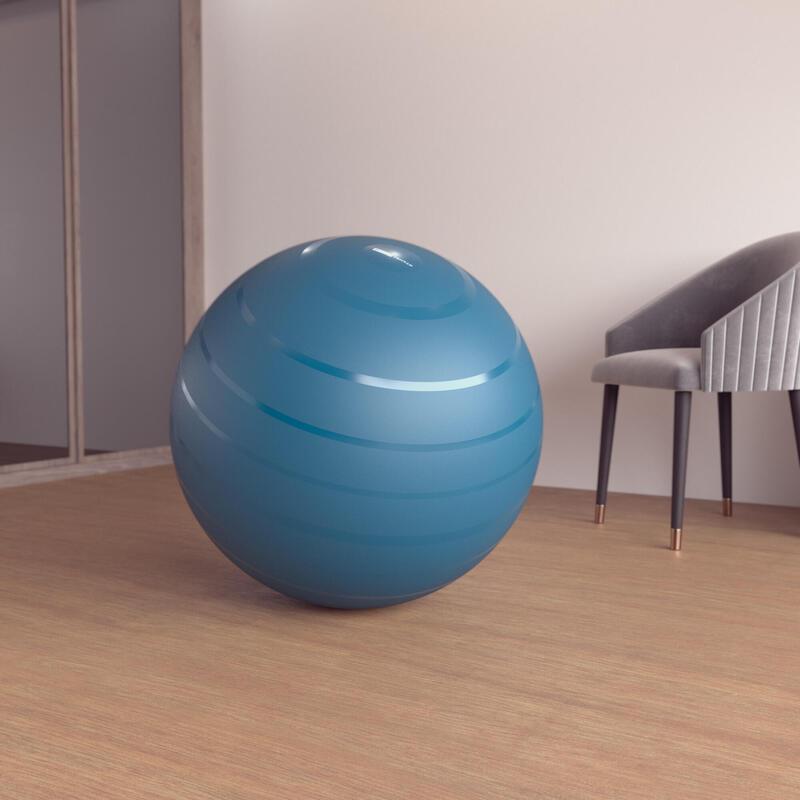 Fitball Pelota Pilates Resistente Talla 3 - 75 cm Turquesa