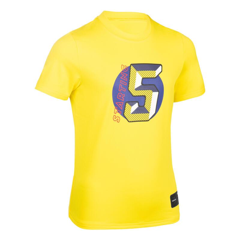 Çocuk Basketbol Tişörtü - Sarı - TS500