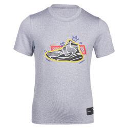 Girls'/Boys' Basketball T-Shirt TS500 Fast - Grey Shoes