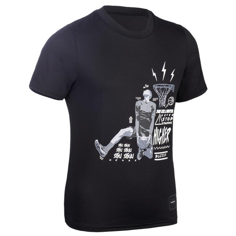 Çocuk Basketbol Tişörtü - Siyah - TS500
