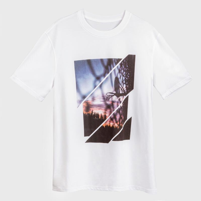 Erkek Beyaz Tişört / Basketbol - TS500