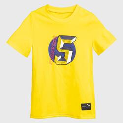 Girls'/Boys' Basketball T-Shirt TS500 Fast - Yellow Starting 5