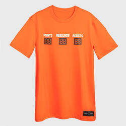 Men's Basketball T-Shirt / Jersey TS500 Fast - Orange Stats